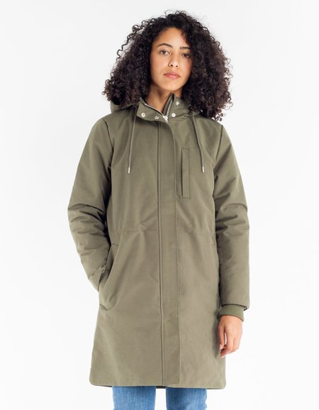 Selfhood Hooded Parka Jacket - Army