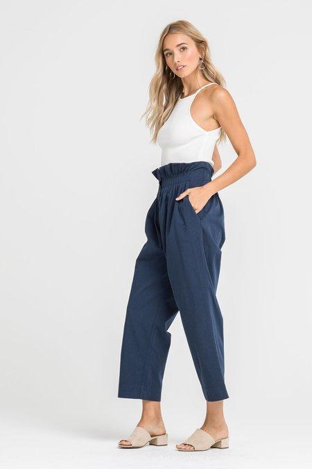 Lush Natalie Crop Pants - Navy