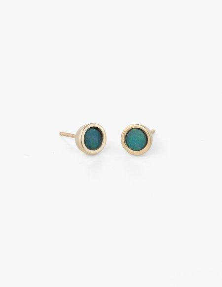 Kathryn Bentley Big Dot Studs in Blue Opal