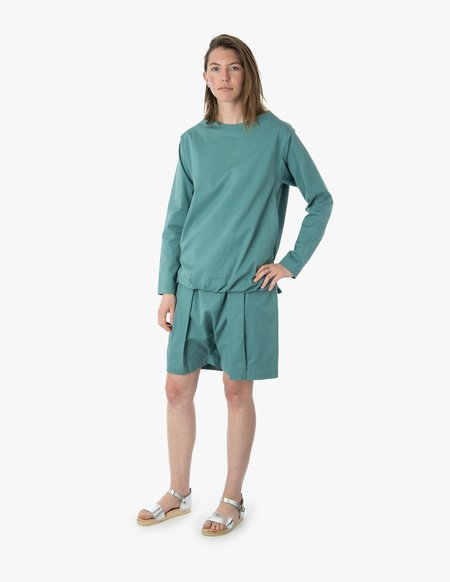 Beira Collar Pocket Coat - Seafoam Green
