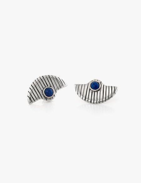 Dream Collective Deco Fan Studs #3 in Lapis