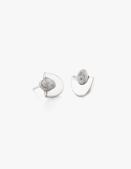 Dream Collective Deco Studs #4 in White Howlite