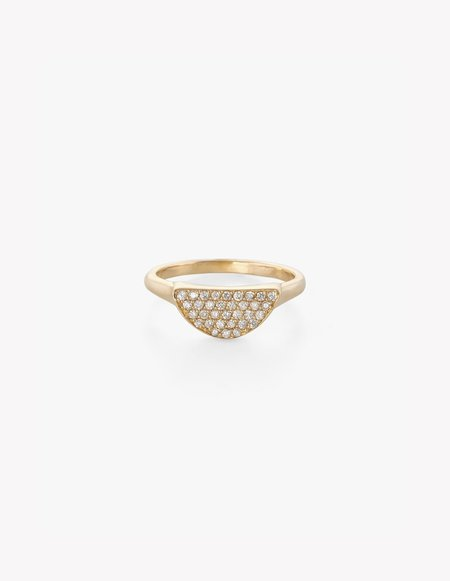 Kathryn Bentley Diamond Pave Moonrise Ring