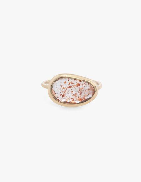 Kathryn Bentley Hematite Quartz Slice Ring