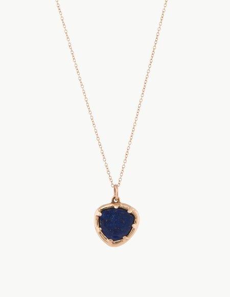 Kathryn Bentley Lapis Organic Amulet Pendant