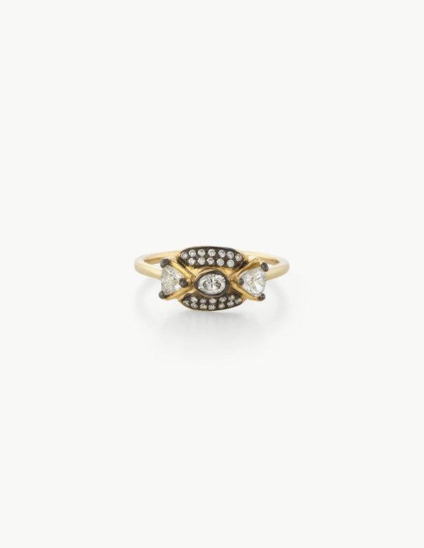 Kathryn Bentley Leida Ring in White Diamonds