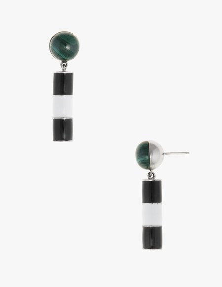 Dream Collective Noguchi Studs in Malachite