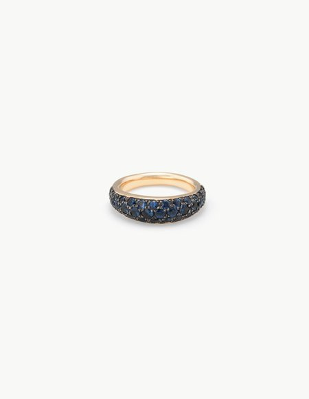 Kathryn Bentley Organic Oval Band with Sapphires
