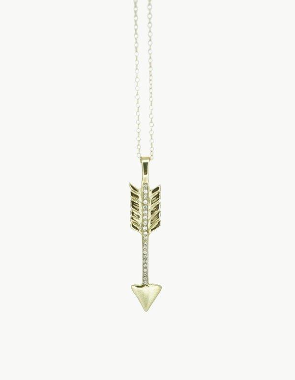 Kathryn Bentley Pave Jake's Arrow Pendant