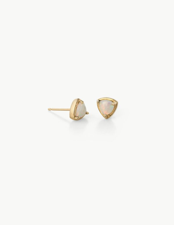 Kathryn Bentley Prism Studs in White Opal