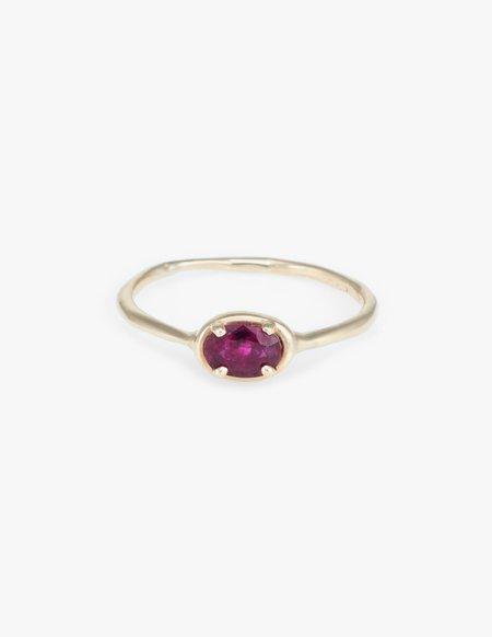 Kathryn Bentley Ruby Ellipse Ring