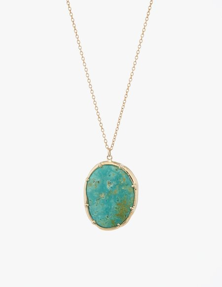 Kathryn Bentley Turquoise Organic Amulet Pendant