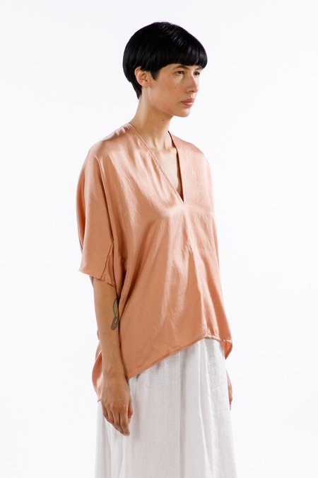 Miranda Bennett Muse Top Silk Charmeuse in Bardot