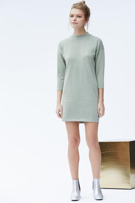 Callahan Sparkle Mock Turtleneck Dress