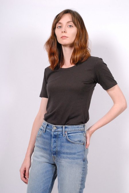 No.6 Bisset Scoop Cotton Jersey Tee - Coal