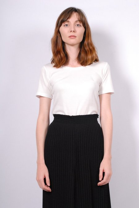 No.6 Bisset Scoop Cotton Jersey Tee - Ivory