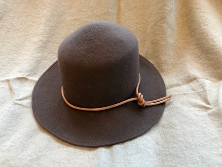 Brookes Boswell Mink Wool Felt Canna Hat