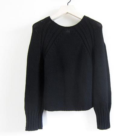 Kristensen du Nord Cashmere Raglan Pullover - Black