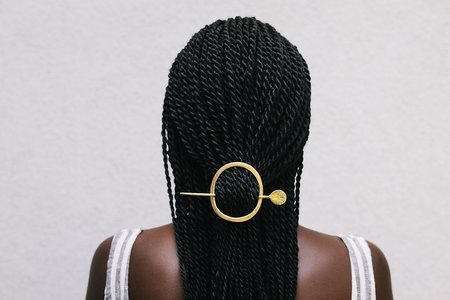 Nettie Kent Halo Hair Slide - Brass