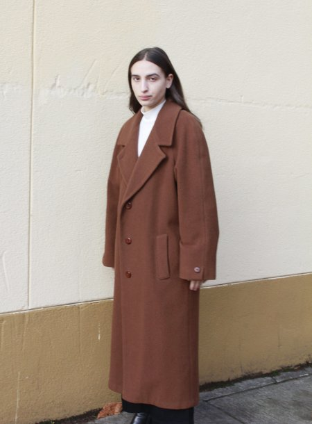 Wool Camel Overcoat
