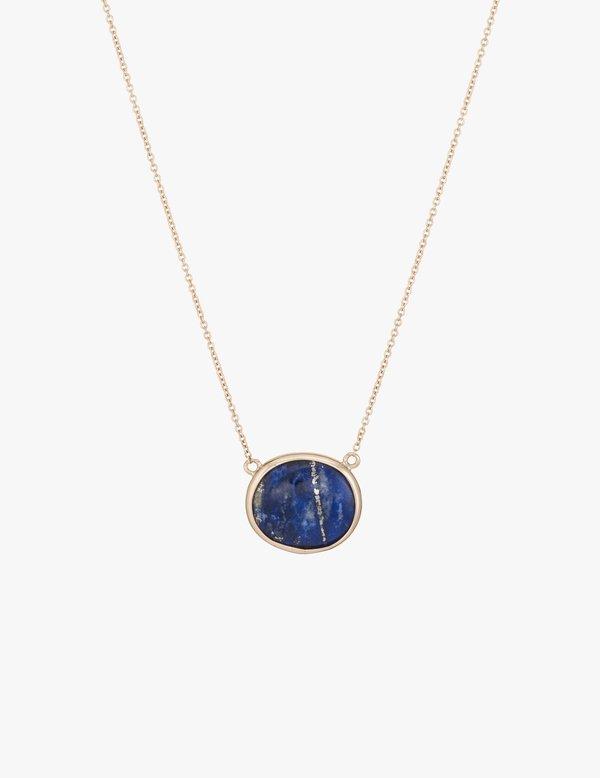 Kathryn Bentley Lapis Slice Necklace
