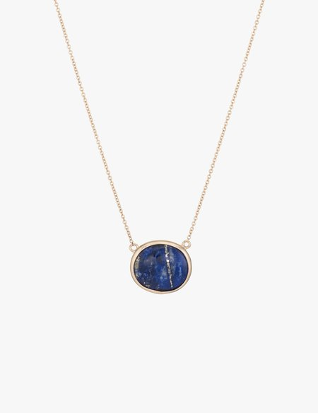 Kathryn Bentley Lapis Slice Necklace