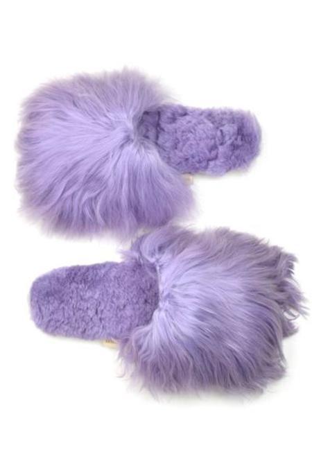 Ariana Bohling Alpaca Slide - Lilac