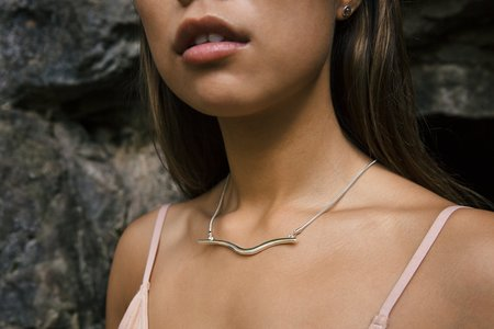 Emily Valentine Silver Wave Necklace