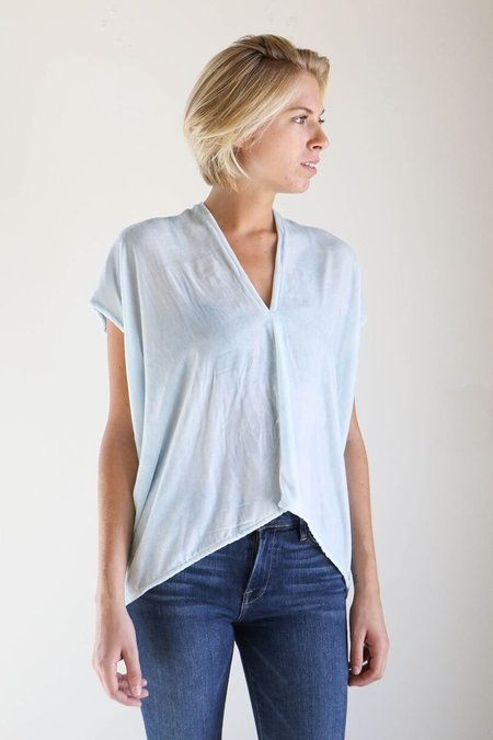 Miranda Bennett Everyday Top in Light Indigo Velvet