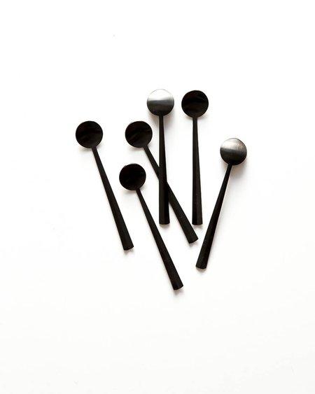 Herdmar Set of 6 Black Mini Spoons