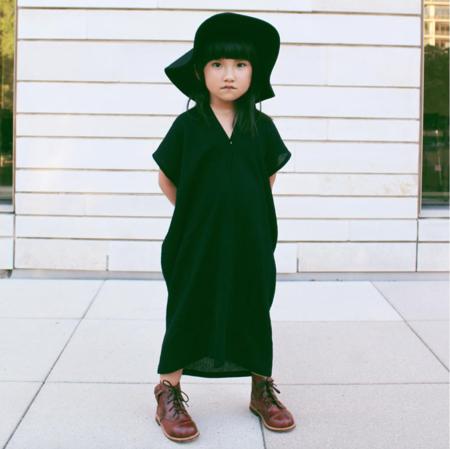 Kids Miranda Bennett Zero Waste Everyday Dress - Black