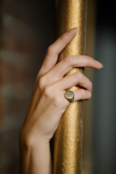 Suzanne Rae Club Ring - Brass