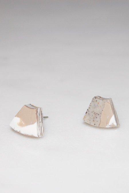 Elise Ballegeer Joan Earrings - Arctic Rose Marble