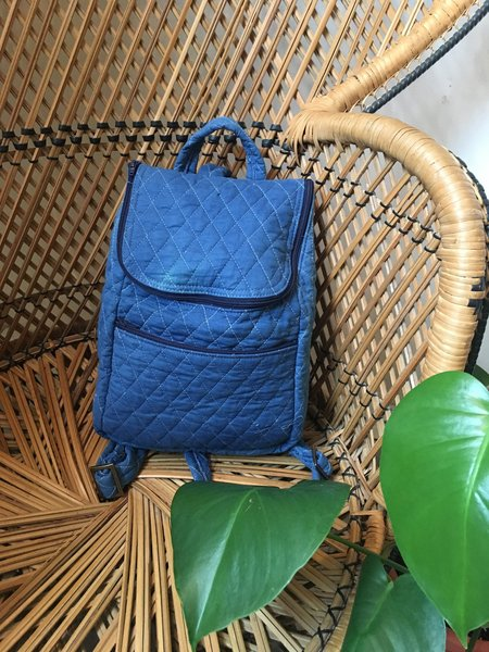 Colorant Quilted Backpack - Indigo