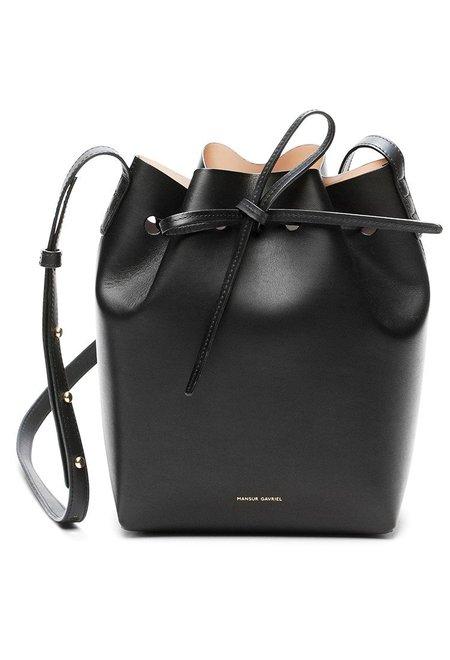 Mansur Gavriel Black/Ballerina Mini Bucket Bag