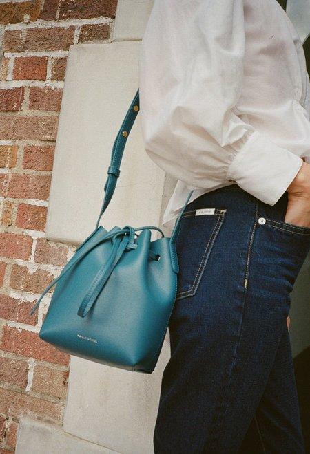 Mansur Gavriel Mini Mini Bucket Bag - Teal Saffiano