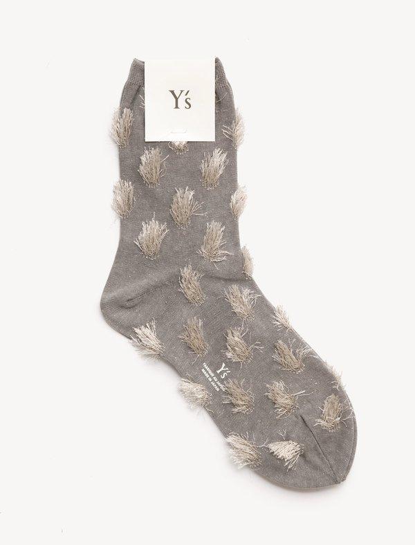 YS by Yohji Yamamoto Inside Out Glitter Socks
