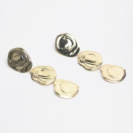 Leigh Miller Brass On The Halfshell Earrings