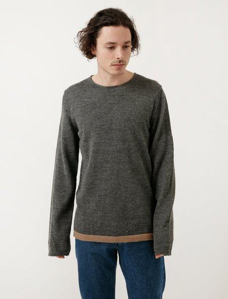 Comme Des Garçons Shirt Grey/Beige Rib Pullover