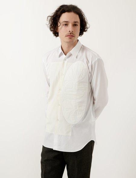 Comme Des Garçons Shirt Poplin Shirt White/Cream Felt