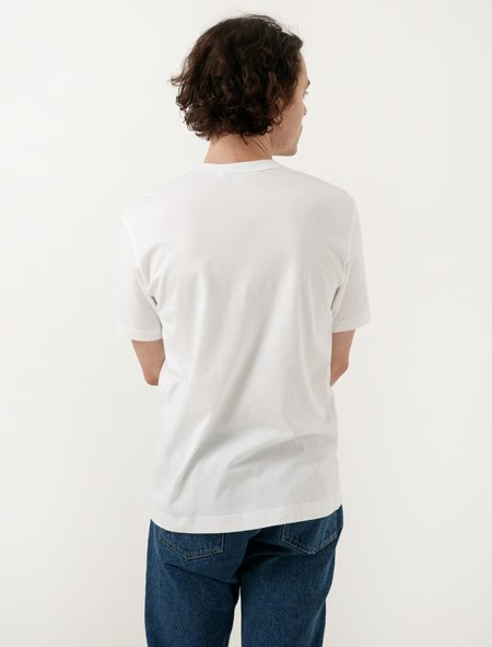 Comme Des Garçons Shirt White Paisley Face Stitch Tee