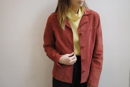 Hey Jude Vintage Garnet Suede Jacket