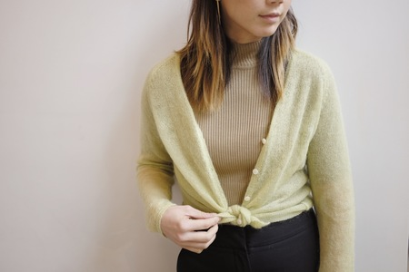 Hey Jude Vintage Lime Wool Cardigan
