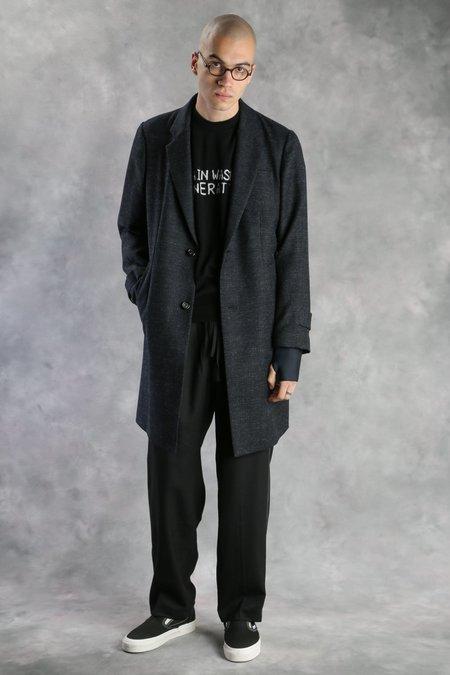 Undercover Tweed Overcoat - Black