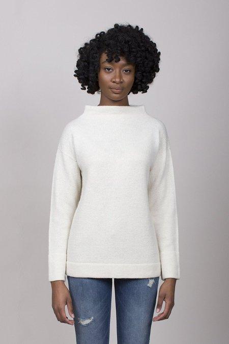 Lauren Manoogian Mock Pullover Sweater - White
