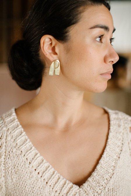 Quarry Rhodes Earrings - Brass