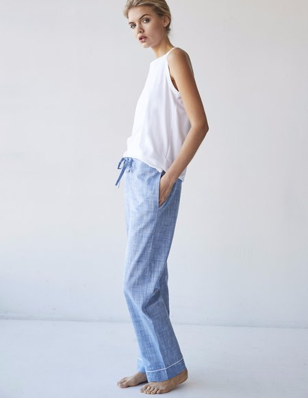 Laing Home Kate PJ Pants - Pale Denim