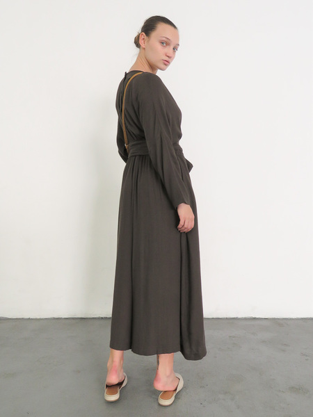 BLACK CRANE WIDE JUMPER WITH BELT -  CHARCOAL