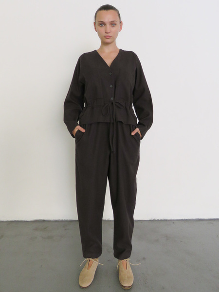 BLACK CRANE SACK JUMPER - PLUM