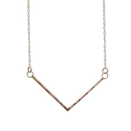Strut Jewelry Hammered Chevron Necklace